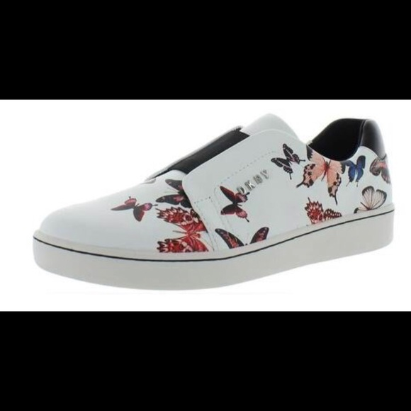 Dkny Shoes - DKNY Leather Butterfly Sneakers